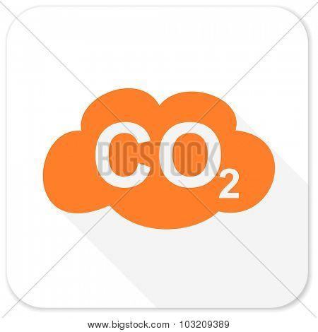 carbon dioxide flat icon