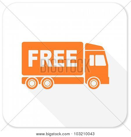 free delivery flat icon