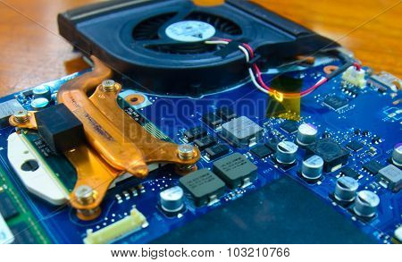 Computer Fan And Circuit Board