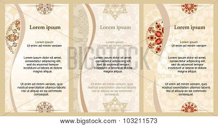 Background for text with floral ornament.