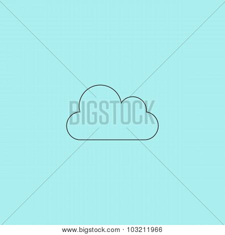Vector cloud icon. Easy to edit.