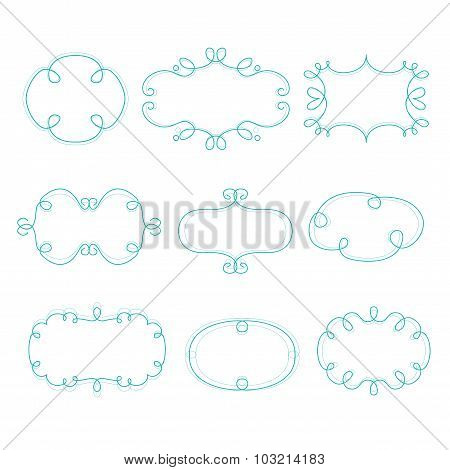 Outline Frames Mono Line Graphic Vector Illustration