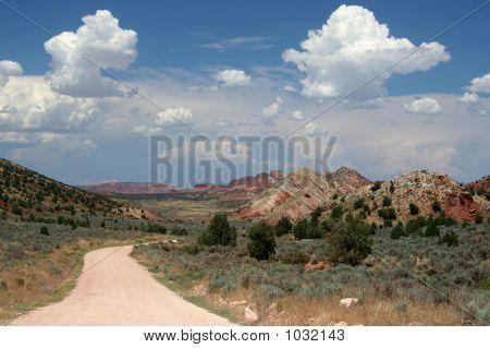 Remote Desert Dirt Road