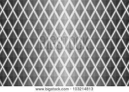 Black And White Diamond Shaped Quadrangle