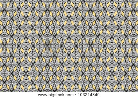 Gray Vintage Abstract Tracery Background Of Diamond Shaped Quadrangle