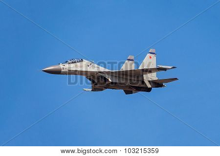 Russian aircraft shows demonstration flight
