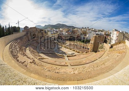 Roman Amphitheater In Cartagena