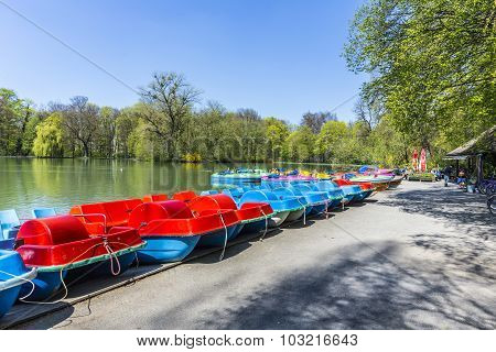 Boats For Rent At The  Seehaus In Munich