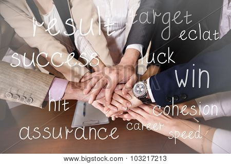 Team of businessmen