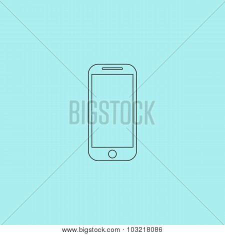 Mobile phone sign icon, vector illustration.