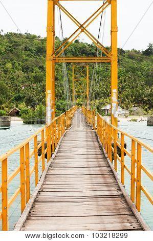 Small bridge in indonesia