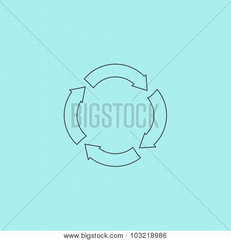 Recycle arrow on isolated background