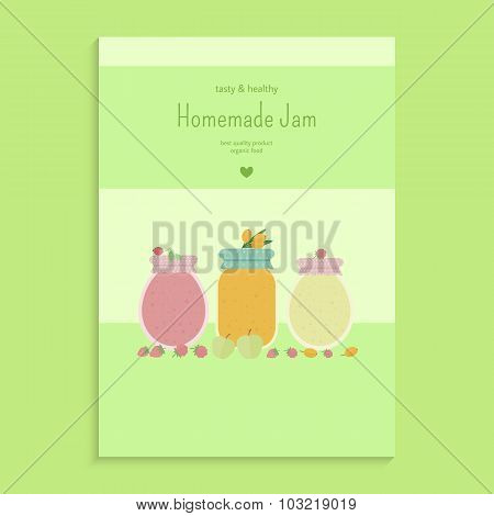 Poster with fruit jam