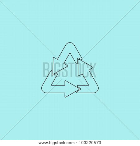 Recycle sign isolated on  background