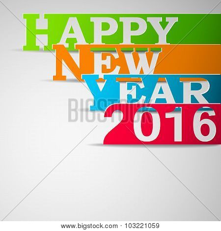 Paper strips with HAPPY NEW YEAR 2016 text