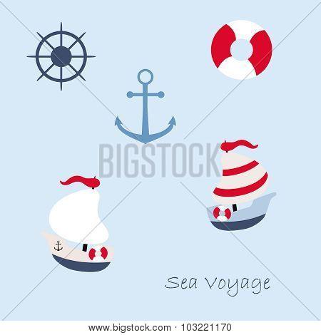 Funny sailing ship