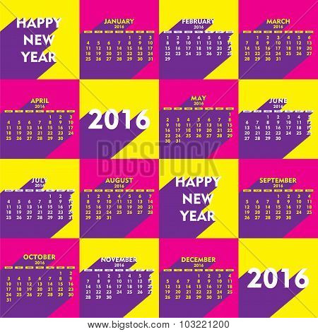 new year calender 2016 design