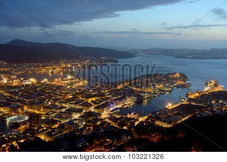 Bergen - Top Night View