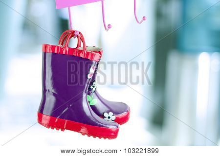 Multi-colored  Rubber Boots For Kids