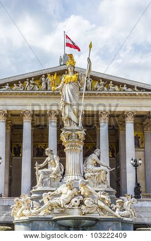 The Austrian Parliament Building   In Vienna Is Where The Two Houses Of The Austrian Parliament Cond