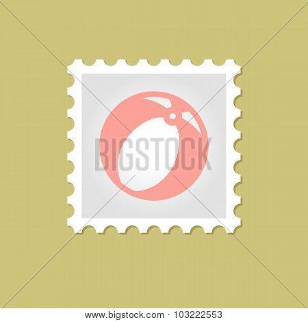 Beach Ball vector stamp
