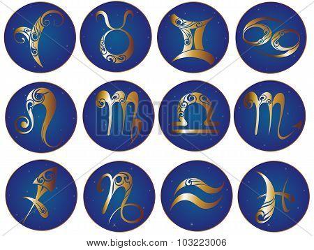 Zodiac icons