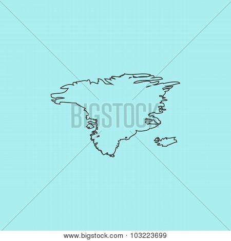 Vector map - Alaska