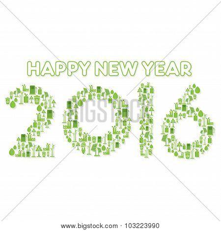 go green concept new year 2016 design