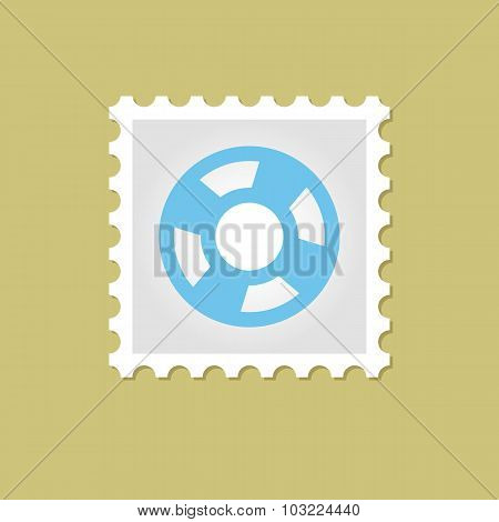 Lifebuoy vector stamp