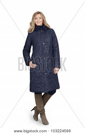 Young Woman In Long Coat