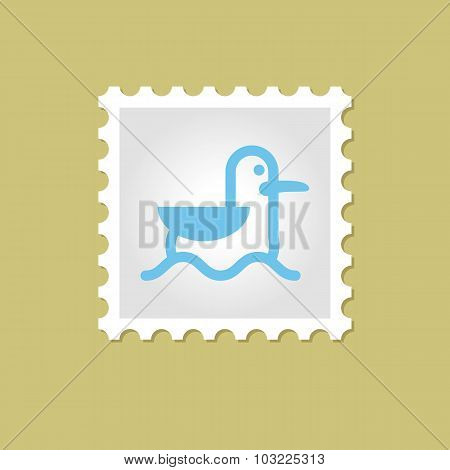 Seagull vector stamp