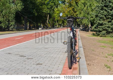 Mature bicycle is waiting till master would ride it