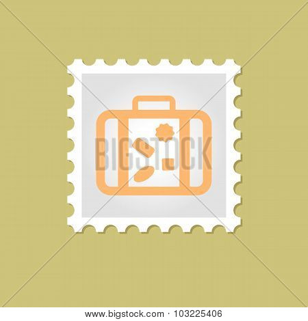 Suitcase vector stamp