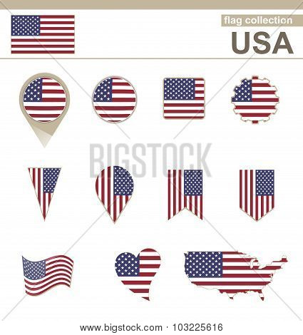 Usa Flag Collection