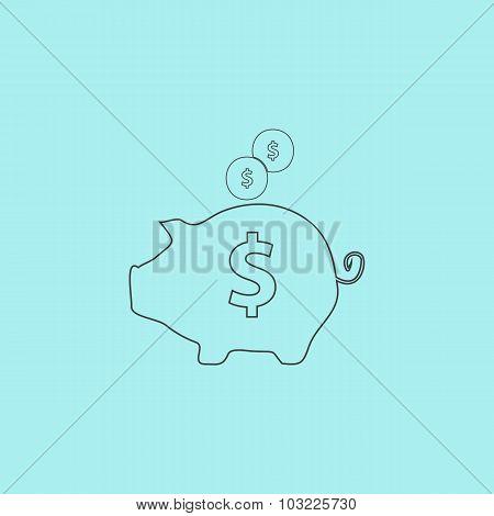 vector piggy money bank