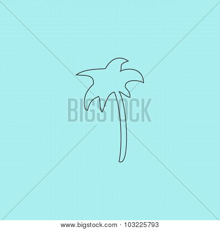 Palm icon in vector