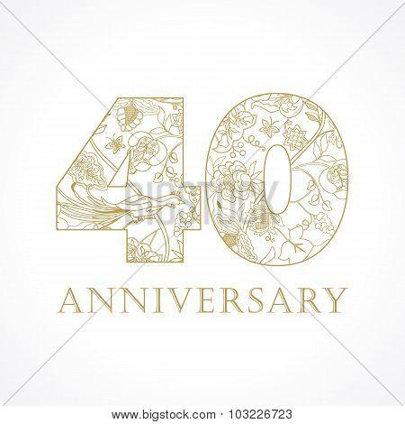 40 anniversary vintage numbers
