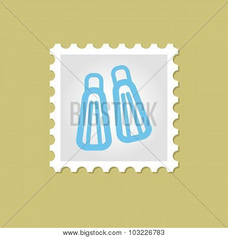Flippers vector stamp