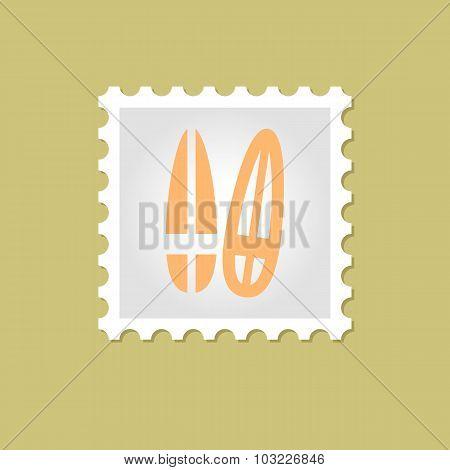 Surfboard vector stamp