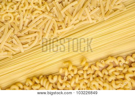 Dry pasta background