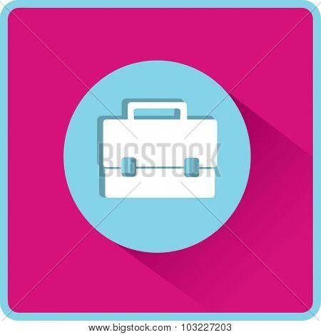 Briefcase illustration. Flat vector icon.