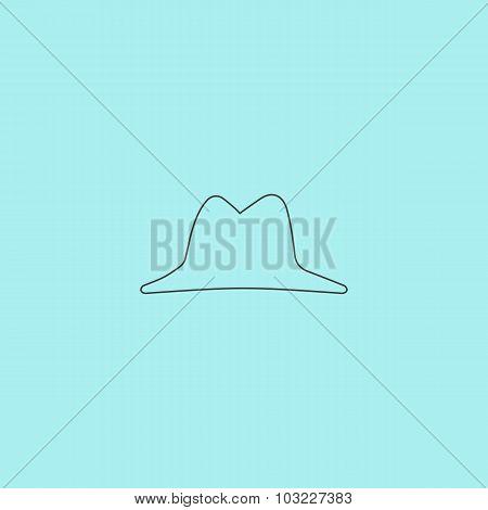 Mens hat vector icon