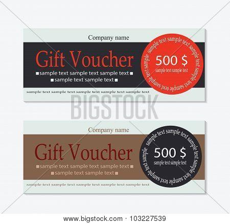 Vector banner voucher