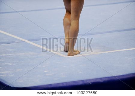 Feet On Gymnastics Floor