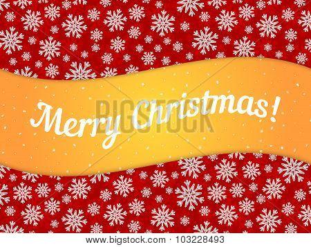 Merry Christmas theme banner witn snowflake pattern