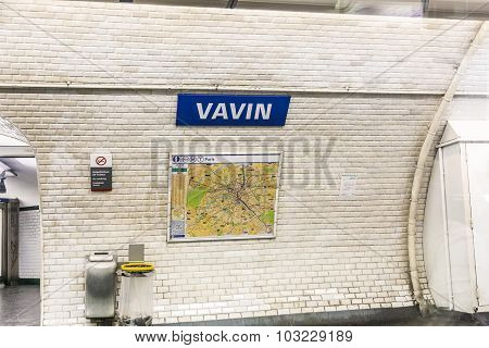 Subway Station  Vavin In Paris