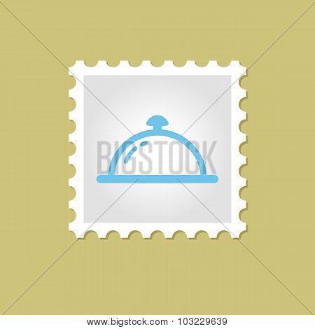 Restaurant Cloche vector stamp