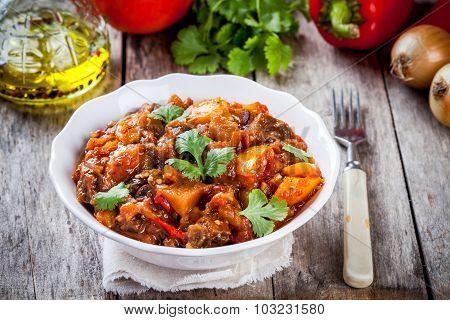 Vegetable Ragout (ratatouille) Paprika, Eggplant And Tomato
