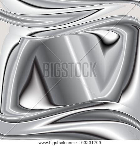 grey background vector overlap 3d graphic metal