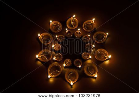 beautiful diwali diya like flower petals